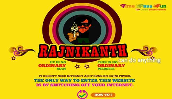 Rajinikanth website works without internet