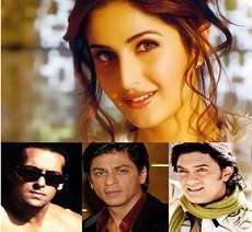 katrina kaif with three khans