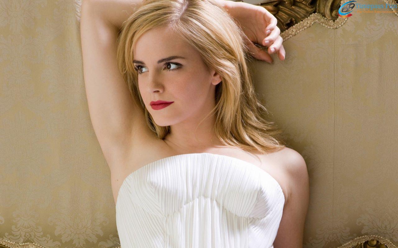 Emma Watson White Dress Wallpaper